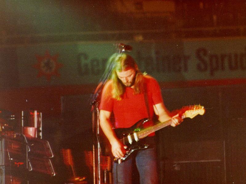 Pink Floyd Dortmund 1977 David Gilmour